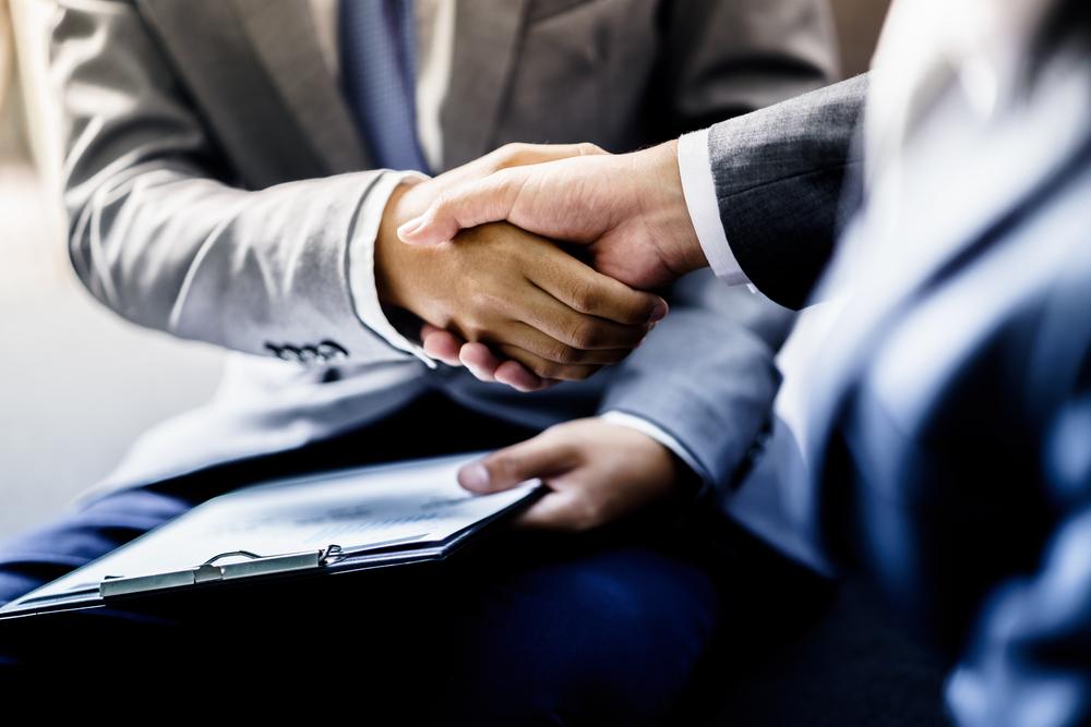 handshake between new business partners