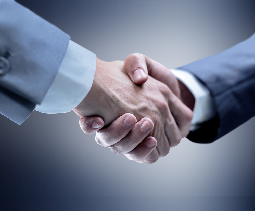handshake signifying a business partnership